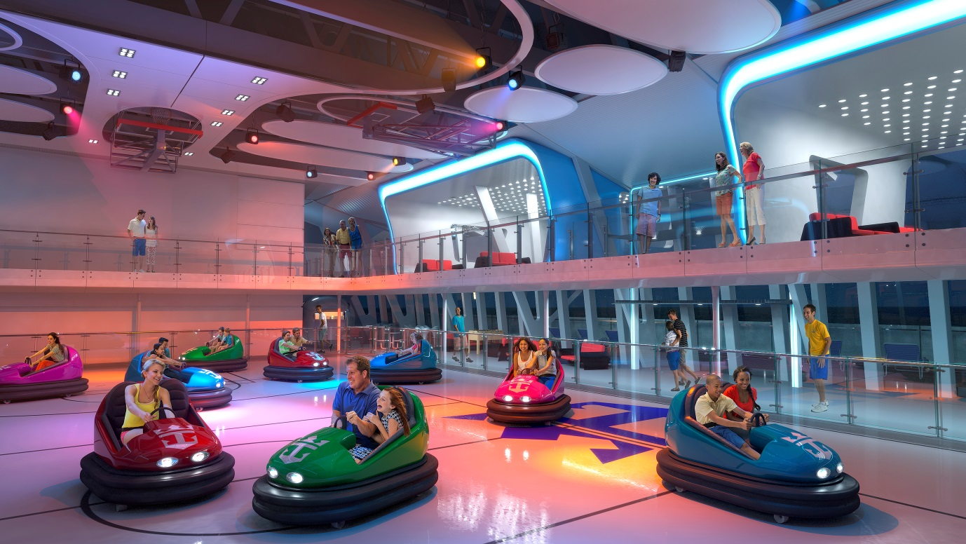 Bumper cars in Royal Caribbean's Quantum Class